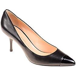 Zanotti Damen Pumps Leder Schwarz, Schuhgröße:40