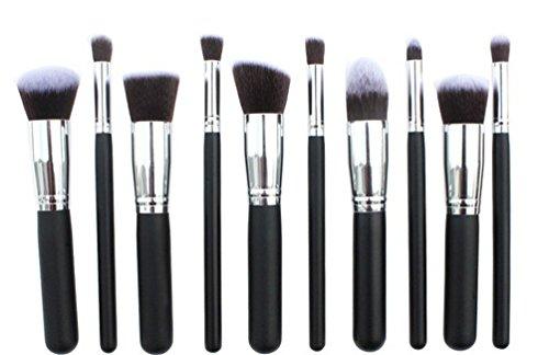 Fashion Base Set 10 Pinceaux de maquillage professionnel Ombre à paupières Ombre à paupières poudre Cosmétiques Outils Kit