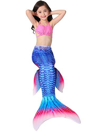 Kostüm 20 Top Besten - Das beste Mädchen Meerjungfrauen Bikini Kostüm Meerjungfrau Schwimmanzug Badeanzüge Tankini (150, Muschel)