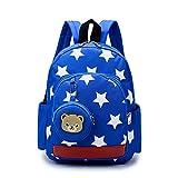 Bambini Zainetto 3D Orso bambino scuola zaino Piccolo zaino a stella tela per bambini Zaino Kindergarten Zaino Boy Girl 3-7 anni(Blu)