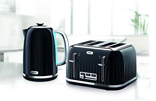 41hoAvdFV1L - Breville Impressions Electric Kettle, 1.7 Litre, 3 KW Fast Boil, Black [VKJ755]