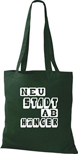 Shirtstown Stoffbeutel lustige Sprüche Neustadt Abhänger viele Farben gruen