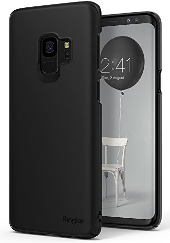 Leder-stahl-liege (Galaxy S9 Hülle, Ringke SLIM Enganliegendes (Maßgenaue Ausschnitte / Telefonschutz) Ultradünnes PC Hartschalencover mit Fortgeschrittener Beschichtung Samsung Galaxy S9 2018 Handyhülle Case - Schwarz)