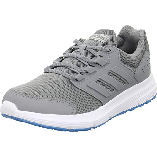 adidas Herren Galaxy 4 Laufschuhe, Grau Grey/Shock Cyan 0, 40 2/3 EU