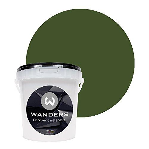 Wanders24 peinture tableau noir mat 15 nuances (1 litre, Vert kaki) peinture murale, créatif, inscriptible, peinture tableau noir