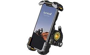 "Soporte Movil Bicicleta, Lamicall Soporte Motocicleta - Rotación 360° Soporte Manillar para iPhone 12 Mini, 12 Pro Max, 11 Pro, XS Max, X, XR, 8, 7, 6S, Samsung S10 S9 S8, Huawei, 4.7-6.8"" Smartphones"