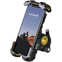 "Soporte Movil Bicicleta, Lamicall Soporte Motocicleta - Universal Rotación 360° Soporte Manillar para iPhone 11 Pro Max, XS Max, X, XR, 8, 7, 6S, Samsung S10 S9 S8 S7 S6, Huawei, 4.7-6.8"" Smartphones"