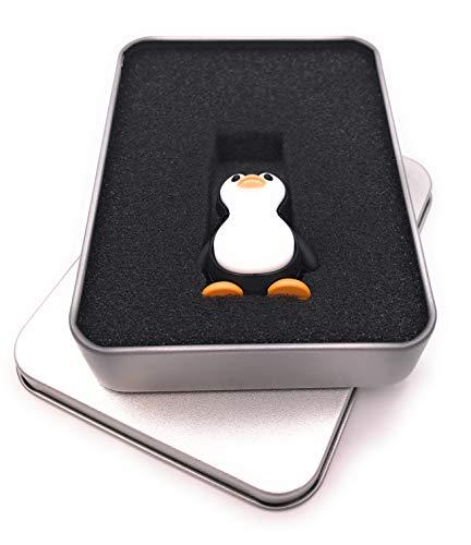 Stick Arktis (Onwomania Pinguin stehend Arktis Tier USB Stick in Alu Geschenkbox 16 GB USB 2.0)