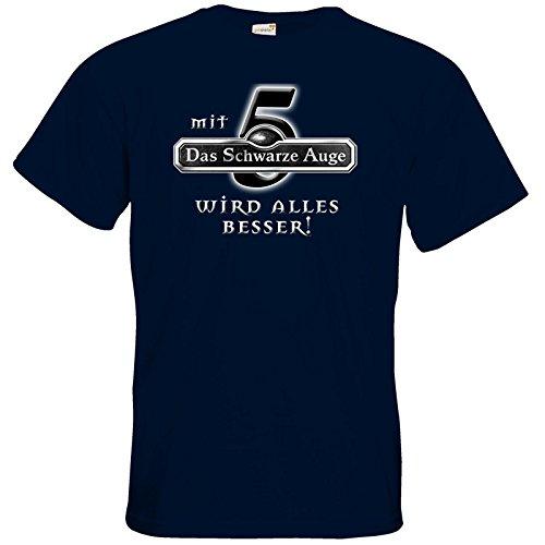 getshirts - Das Schwarze Auge - T-Shirt - Sprüche - Mit DSA5 wird alles besser Navy