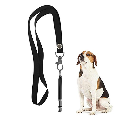 HEHUI Hundepfeife zu Stop Bellen, Verstellbarer Pitch Ultraschall Training Werkzeug Silent Rinde Kontrolle für Dogs- 1Stück Pcs Whistles mit 1Gratis Lanyard Band -