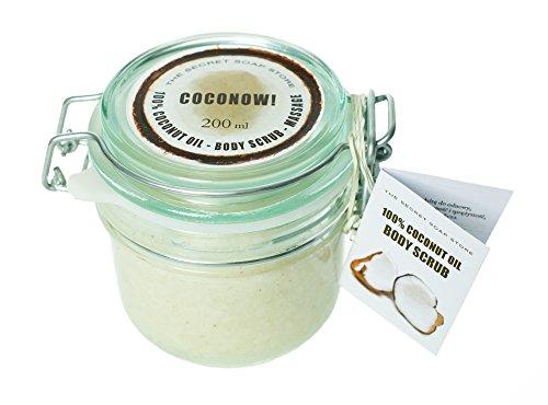 Körperpeeling (Zucker-Peeling) mit Kokosöl und Kokosnussschale (200 ml). (Kokos-zucker-peeling)