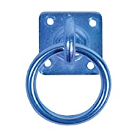 Perry Equestrian Swivel Tie Ring On Plate (Pack Of 2) (One Size) (Blue)