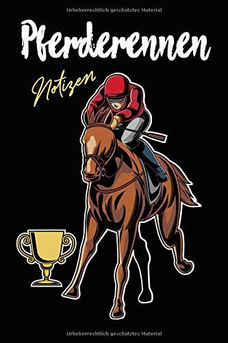 Pferderennen Notizen: Pferderennen Pferd Notizbuch - Einschreibbuch - Horse - Jockey por Gabi Siebenhühner
