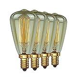 ZOOVQI Edison LED Glühbirne Retro Glühlampe Vintage E14 ST48 40W Dekorative Dimmbar Beleuchtung Birne Für Haus Wohnzimmer Büro Café Bar usw