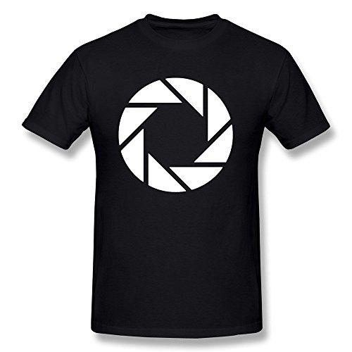 Uomo s aperture science Vector Logo tshirt Nero XXXX per l Black taglia unica