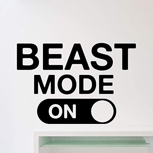 l Fitness Gym motivierend Zitat Aufkleber Home Crossfit Sport Poster Workout inspirierende Kunst Dekor C 86 x 57 c ()