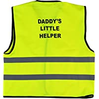 Kids Child Little Helper Print Hi-Viz Hi-Visibility Safety Vest Waistcoat Age 1-9 Years