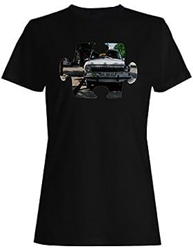 Rompecabezas viejo vintage hermoso coche camiseta de las mujeres e606f