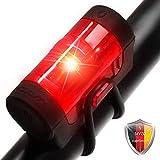 Yami Fahrradrücklicht R150 Fahrrad Licht LED, USB Fahrradbeleuchtung aufladbar, Fahrradlampe hinten, Rücklicht mit Batterie StVZO zugelassen