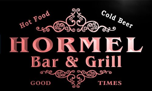 u20839-r-hormel-family-name-bar-grill-home-beer-food-neon-sign-barlicht-neonlicht-lichtwerbung