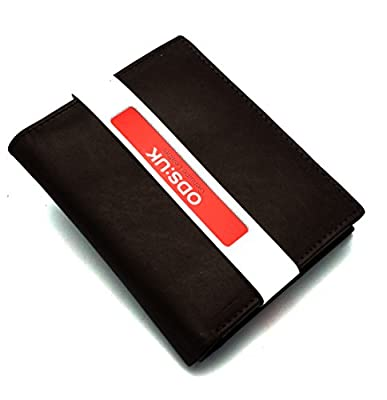 Ods:uk® Mens High Luxury Soft Leather Tri Fold Design Wallet Credit Card Slots, Id Window And Coin Pocket
