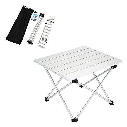 Yahill® Campingtisch Alu Klapptisch Aluminium ideal Reisetisch Falttisch Gartentisch klappbar Tisch für Camping Outdoor Picknick BBQ Wandern Reise Angeln Urlaub in Tasche tragbar