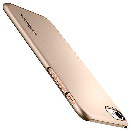 iPhone 8 Hülle, Spigen® [Thin Fit] Passgenau [Champagne Gold] Slim Hart PC Hardcase Schale Schlanke Handyhülle Schmal Schutzhülle für Apple iPhone 8 Case Cover - Champagne Gold (054CS22209)