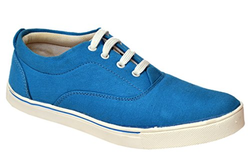 Molessi Blue Canvas Stylish & Funky Look Casual Shoes - 7 UK