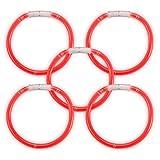 Pulseras Glow Sticks con Brillo, 100 Unidades,, Color Rojo