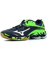 Mizuno Wave Lightning Z2, Chaussures de Volleyball Homme, Bleu/Blanc/Vert