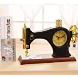 Máquina de coser Despertador de Sobremesa Reloj Estilo Antiguo Decoración escolar escritorios y creativas Despertador Dormitorio Noche Mesa Clock (aleatorio programas)