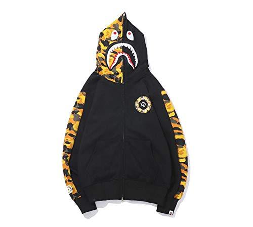 yur67 Bape Full Zip Cotton Pullover Sweatshirt Hoodie for Men/Women -