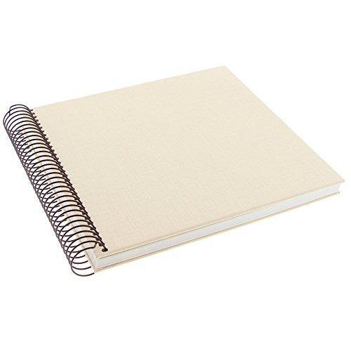 Goldbuch Spiralalbum, Linum, 20 x 20 cm, 40 chamoisfarbene Seiten, Leinen, Beige, 12931