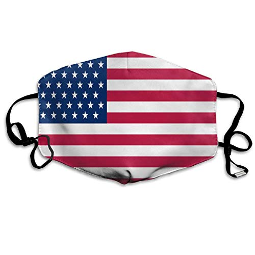 angwenkuanku American Flag Dust Mouth Mask,Cartoon PM2.5 Anti Dust Pollution Mask with Adjustable Straps Cotton Mouth Mask Multicolor9 -