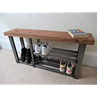 Shoe & Welly boot rack, two shelf hallway bench