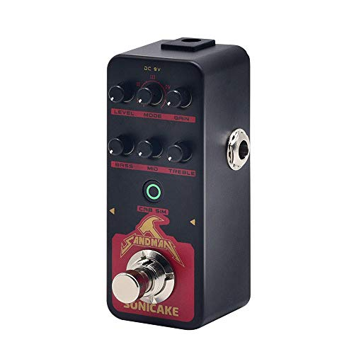 SONICAKE SANDMAN Digital Preamp Distortion Guitar Effects Pedal w/h 5 Modern-Style Hi-Gain Guitar Amps Models - Pedal Noise Gate Guitar