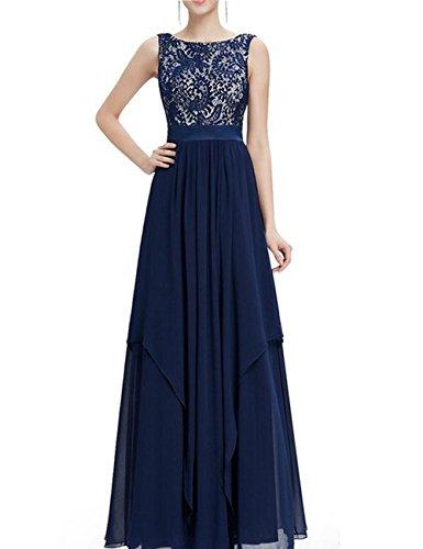 d6744cdbfd28 Tkiames Elegante Donna Vestito Lunghi Vintage Senza Maniche Lungo Abito da  Sera (L, blu 2)