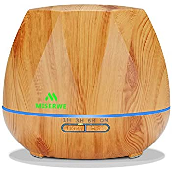 Tenswall 400ml Wood Grain Essential Oil Diffusers