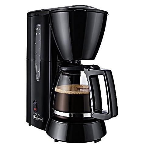 Melitta M 720-1/2 Single5 Kaffeefiltermaschine -Glaskanne mit Tassenskalierung -Tropfstopp schwarz