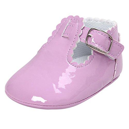 pattini di bambino Koly_Bambino Lettera principessa morbida soli pattini bambino delle scarpe da tennis casuali Purple