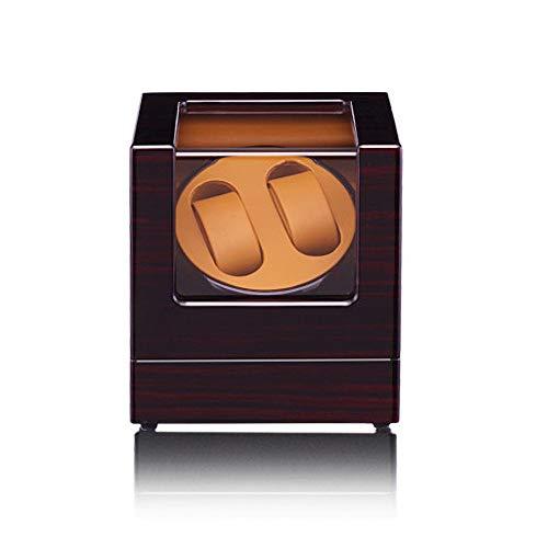 DKZK Uhrenbeweger für Automatikuhren,Watch Winder,Uhrenbox Watch Winder Mute für 2 Uhren Luxuriöser Uhrendreher Uhrenwender Holz Aufbewahrung Uhrenvitrine mit Glasfenster