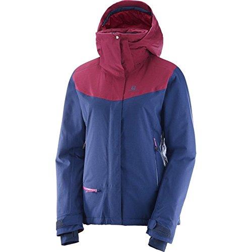 Salomon Damen Jacke QST Snow JKT W XL Blau/Rot (Medieval Blue/Beet Red) Jkt Snow