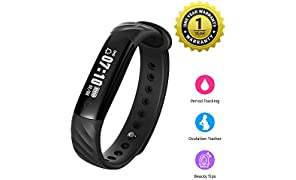 MEVOFIT Slim - Best Fitness Tracker Watch for Women with Period & Ovulation Reminders | Light Weight Activity Tracker & Fitness Band | Waterproof Fitness Tracker