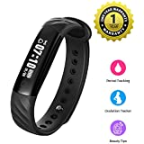 MEVOFIT Slim HR - Best Fitness Tracker Watch For Women With Period & Ovulation Reminders   Light Weight Activity Tracker & Fitness Band   Waterproof Fitness Tracker With Heart Rate Monitor