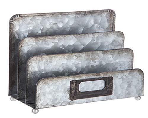 Aktenordner, verzinktes Metall, mit 3 vertikalen Fächern, 7,6 cm L x 17,5 cm B x 15,2 cm H -