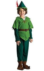 Viste a América - 837-T4 - Peter Pan Traje - 3-4 años - Tamaño 97 cm - Multicolor
