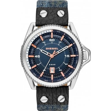 Diesel Unisex Quartz Watch with Multicolour Dial Analogue Display and Multicolour Textile Bracelet DZ1727