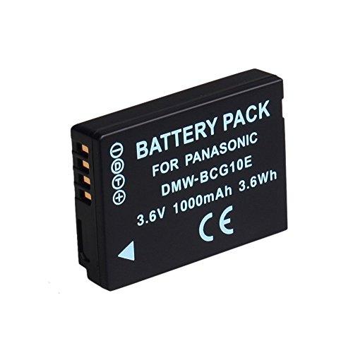 BPS Alta Capacidad DMW-BCG10E BCG-10PP Batteria para Panasonic Lumix DMC-TZ20 DMC-TZ6,DMC-TZ7,DMC-TZ30,DMC-TZ31,DMC-TZ / ZR / ZS / ZX Cámara digital,Compatible con el cargador de batería Panasonic Lumix DE-A66 DE-A66A