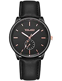 0452039b7571 Hombre Elegante Deportes Reloj de Cronógrafo de Cuarzo Analógico  Impermeable con Moda Reloj de Lujo para