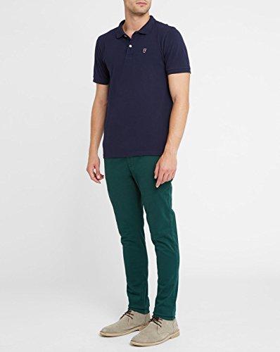 KNOWLEDGE COTTON APPAREL - Herren- Marineblaues Poloshirt mit Knowledge-Logo aus Bio-Baumwolle für herren Blau
